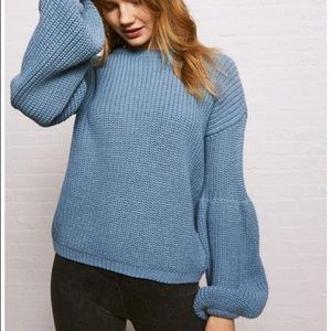 Knit blue sweater